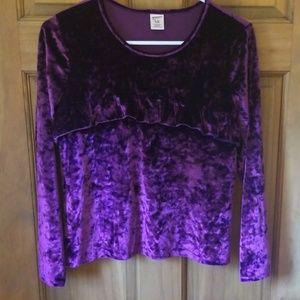 Arizona Jeans Co girls plus size velour blouse